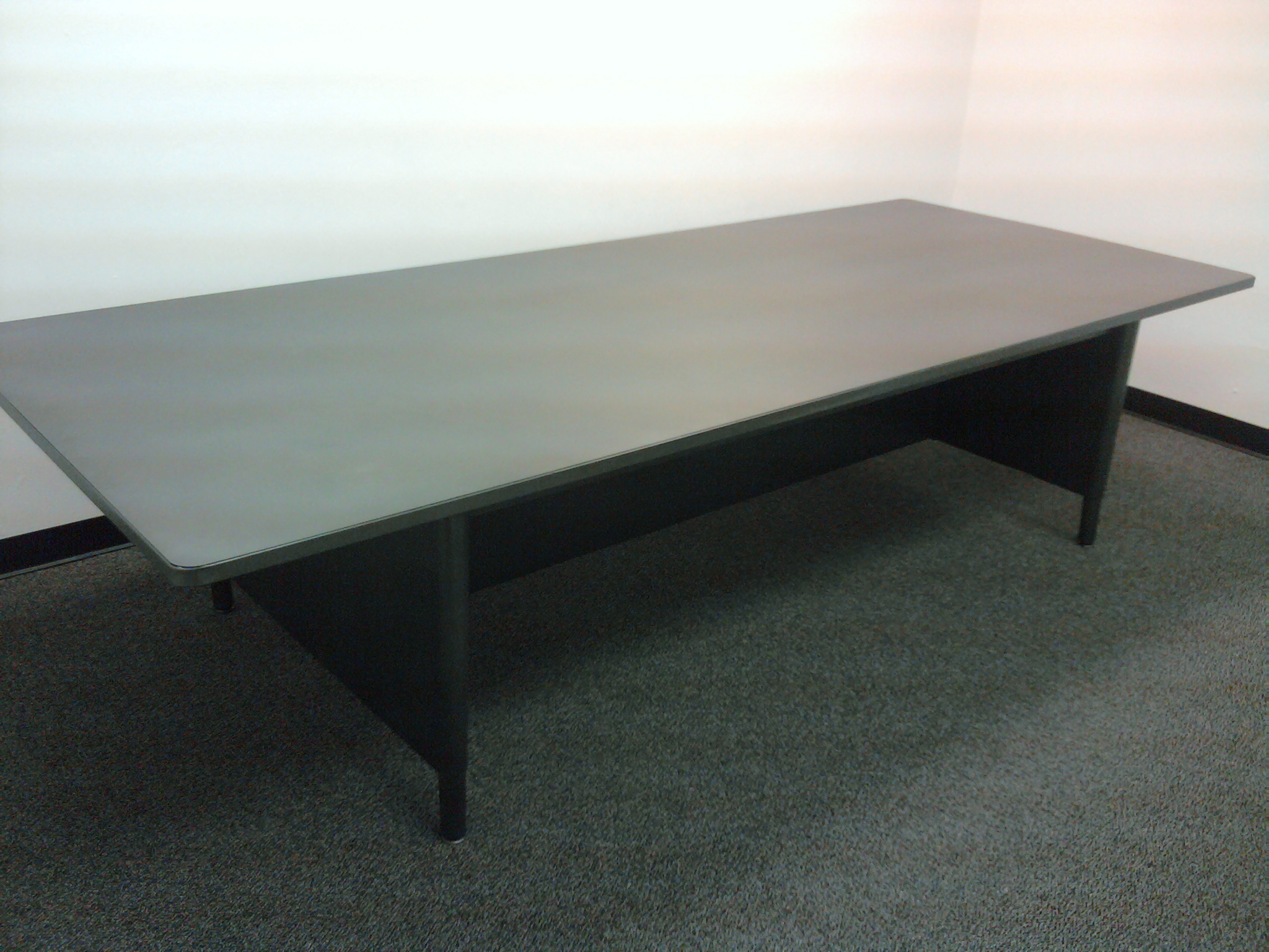 Vintage Steel Panel Leg Tables - 7 foot conference table